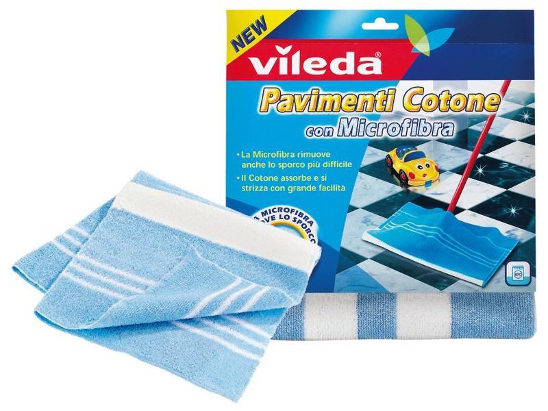 Panno Pavimenti Microfibra.Vileda Panno Pavimenti In Cotone Con Microfibra