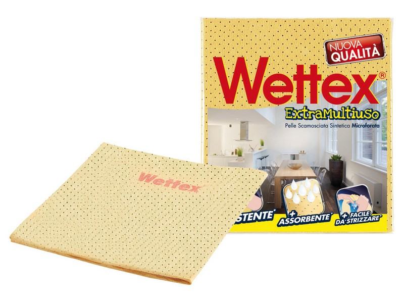 15 pz Panno Wettex Pelle Scamosciata Sintetica Resistente Assorbente Microforata