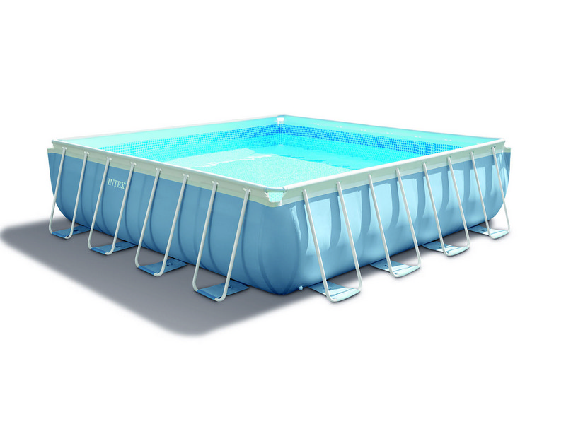 Intex piscina quadrata frame prisma con telaio portante 427x427x107 h - Piscina quadrata ...