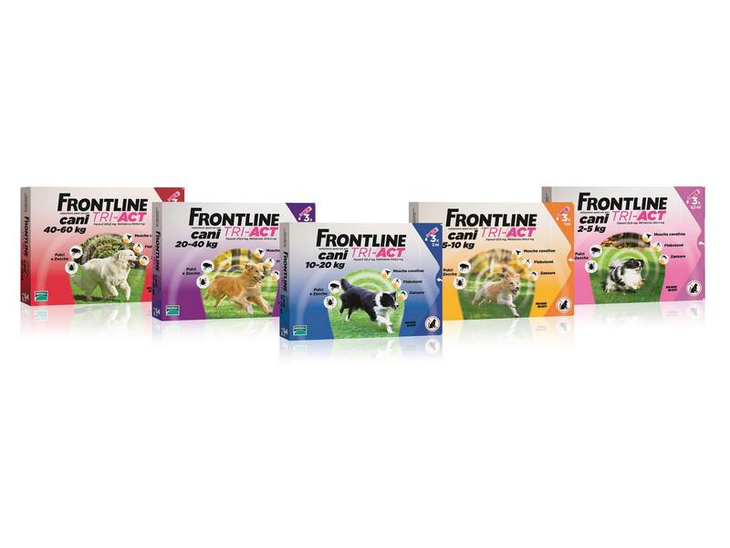 Pesticide frontline tri-act pour chiens de 2 à 5 kg (3 pipettes)