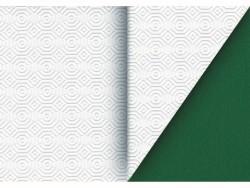 TOVAGLIATO IN PVC MOLLETTONE BIANCO/VERDE  Rotolo cm.140 (H) x 20 mt (L)