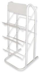 ESPOSITORE PER PLASTICA ADESIVA Capacità 12 rotoli-3 ripiani cm.34,5x40x88 h