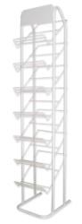 ESPOSITORE PER PLASTICA ADESIVA Capacità 28 rotoli-7 ripiani cm. 34,5x40x172h