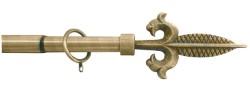 Utilia BASTONE PER TENDE GIGLIO IMPERIALE Estensibile cm.120÷215 col.Oro antico