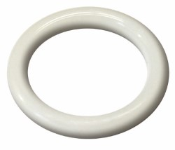 ANELLO PER SCORRITENDA IN MOPLEN BIANCO - DIAMETRO 10 MM - 20 PZ