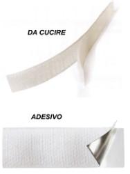 NASTRO VELCRO BIANCO CON UNCINO DA CUCIRE