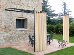 TENDA GAZEBO CON BRETELLE CON BOTTONI CM.160X270