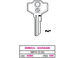 CHIAVE ASC SM1R (G.02) - 100 PEZZI - SIMECA,GIUSSANI - SILCA