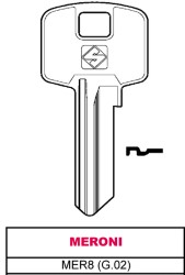 CHIAVE ASC MER8 (G.02) - MERONI - SILCA