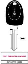 CHIAVE CON TRANSPONDER GT15RAT5 (G.69)