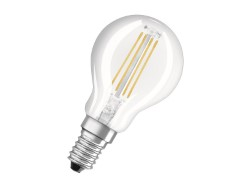 OSRAM LAMPADE A LED RETROFIT FILAMENT- SFERICA E14 4W LUCE CALDA
