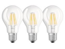 Osram LAMPADA A LED BASE FILAMENT 3 PZ. Goccia E27-Luce calda 7 W-806 lumen