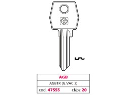 Silca CHIAVE OTTONE AGB1R (G. VAC 3) AGB
