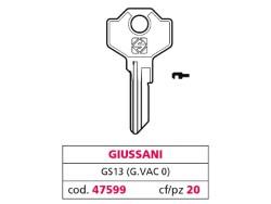Silca CHIAVE OTTONE GS13 (G. VAC 0) GIUSSANI