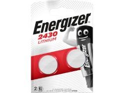 Energizer PILA AL LITIO SPECIALISTICA 2 PZ. BOTTONE CR2430 3V-Ø mm. 24,5x3 h