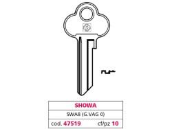 Silca CHIAVE PUNZONATA OTTONE SWA8 (G. VAE 0) SHOWA