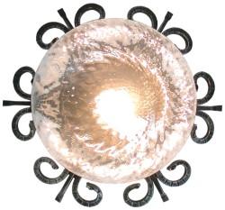 Plafoniera rustica diametro 35 cm.