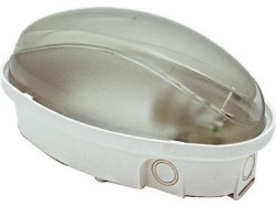 Fanton PLAFONIERA PANDA MINI LED 12W BIANCA ovale Ø cm.21,5x12,5x11 h