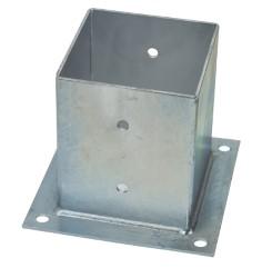 Supporto chiuso per travi in legno mm. 91x91 piano mm. 150x150