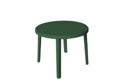 TAVOLO ZEUS Ø cm. 90x72 h col. Verde