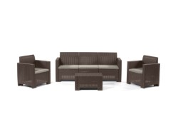 SET RATTAN NEBRASKA 3 MARRONE