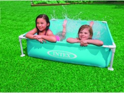 INTEX PISCINA QUADRATA MINI FRAME BLU CM. 122x122x30 H