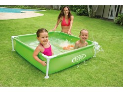 INTEX PISCINA QUADRATA MINI FRAME VERDE CM. 122x122x30 H