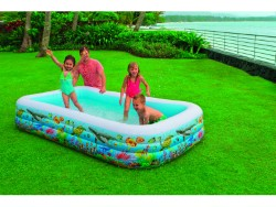 INTEX PISCINA FAMILY SWIM CENTER TROPICAL 305X183X56 - 2 PEZZI