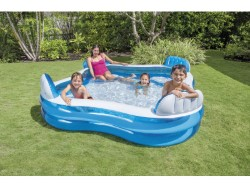 INTEX PISCINA QUADRATA FAMILY CM. 229X229X66H