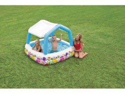 INTEX PISCINA QUADRATA CAPANNA 157X157X122H