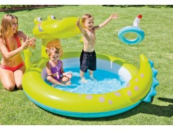 INTEX PISCINA ALLIGATORE SPRAY CM. 198X160X91 H