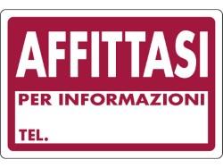 CARTELLO SEGNALETICO PLASTICA AFFITTASI CM.30X20