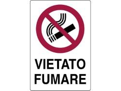 CARTELLO SEGNALETICO PLASTICA VIETATO FUMARE CM.20X30