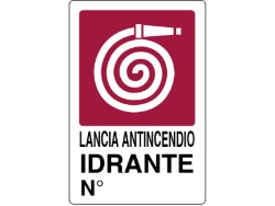 CARTELLO SEGNALETICO PLASTICA - IDRANTE