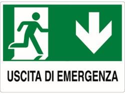 CARTELLO SEGNALETICO PLASTICA - USCITA EMERGENZA
