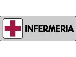 ETICHETTA SEGNALETICA ADESIVA INFERMERIA CM. 15 X 5 - 10 PEZZI