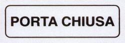 ETICHETTA ADESIVA 15x5 - PORTA CHIUSA - PEZZI 10