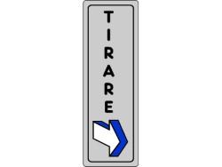 ETICHETTA ADESIVA 15x5 - TIRARE - PEZZI 10