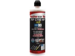 """ANCORANTE CHIMICO """"FIP C700 HP"""" FISCHER ML.400 - 9 PEZZI"""