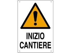 CARTELLO SEGNALETICO INIZIO CANTIERE 60X40