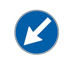 Segnale passaggio obbligorio fig.82 - 60 cm