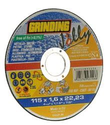 Grinding DISCO ABRASIVO PIANO JOLLY  Ø mm. 115x1,6x22,2