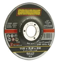 Grinding DISCO ABRASIVO CENTRO DEPRESSO per ferro Ø mm. 115x3,2x22,2