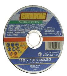 Grinding DISCO ABRASIVO PIANO per inox Ø mm. 115x1,6x22,2