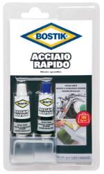COLLA BOSTIK ACCIAIO RAPIDO BLISTER 2 TUBI ML.15 - 12 PEZZI