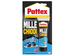 """COLLA """" PATTEX MILLE CHIODI WATER RESISTANT """" HENKEL GR.100 - 12 PEZZI"""