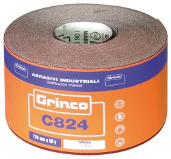 Abrasivi Industriali CARTA ABRASIVA GRINCO C824 CM.11,5 h X 45MT. grana 40