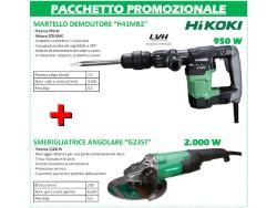 HIKOKI  MARTELLO H41MB2 930W + SMERIGLIATRICE G23ST 2000W+GILET
