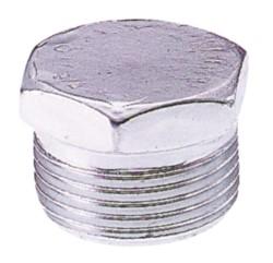 Tappo maschio esagonale in acciaio zincato 1''