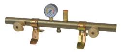 Centralina gas valvols + manometro 2 bombole